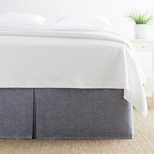 Brussels Indigo Bed Skirt