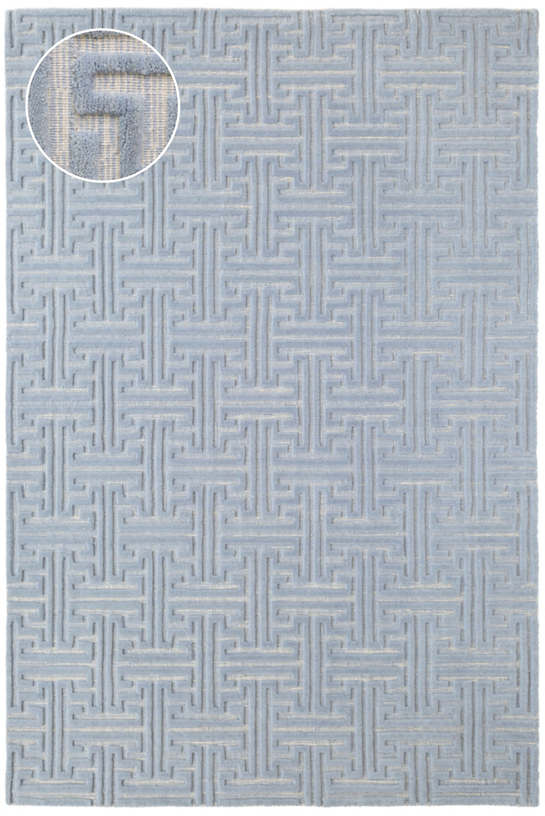 Beekman Delphinium Jacquard Loom Knotted Rug