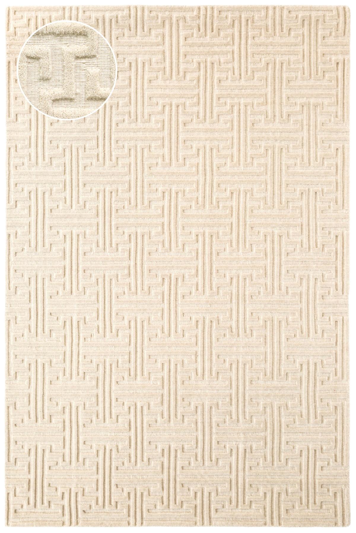Beekman Ivory Jacquard Loom Knotted Rug