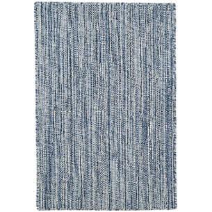 Bella Navy Woven Wool Rug