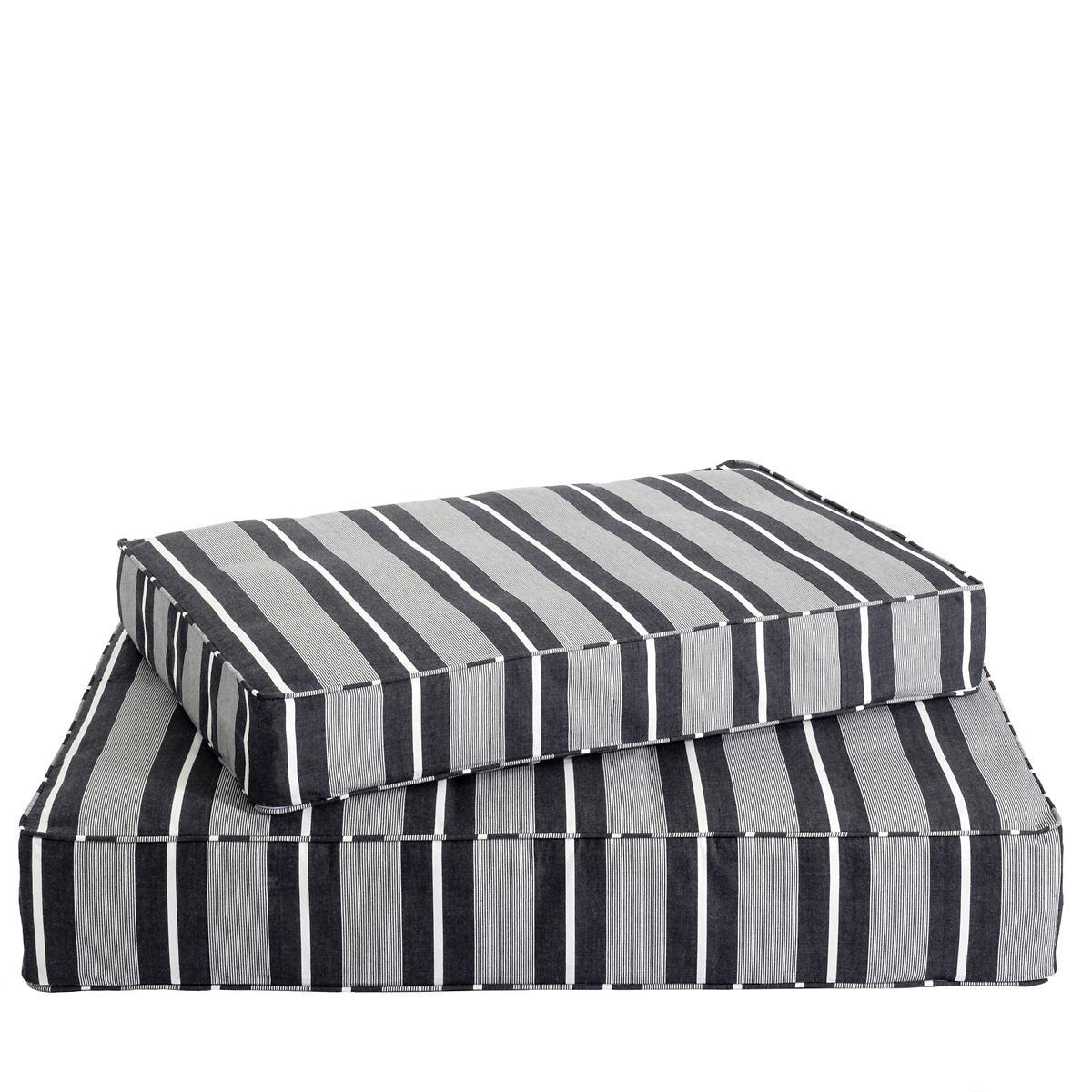 Berkeley Stripe Black Dog Bed Cover