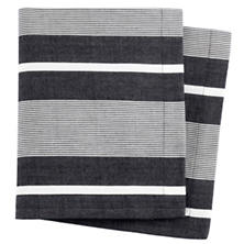 Berkeley Stripe Black Napkin