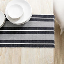Berkeley Stripe Black Table Runner