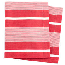Berkeley Stripe Red Napkin