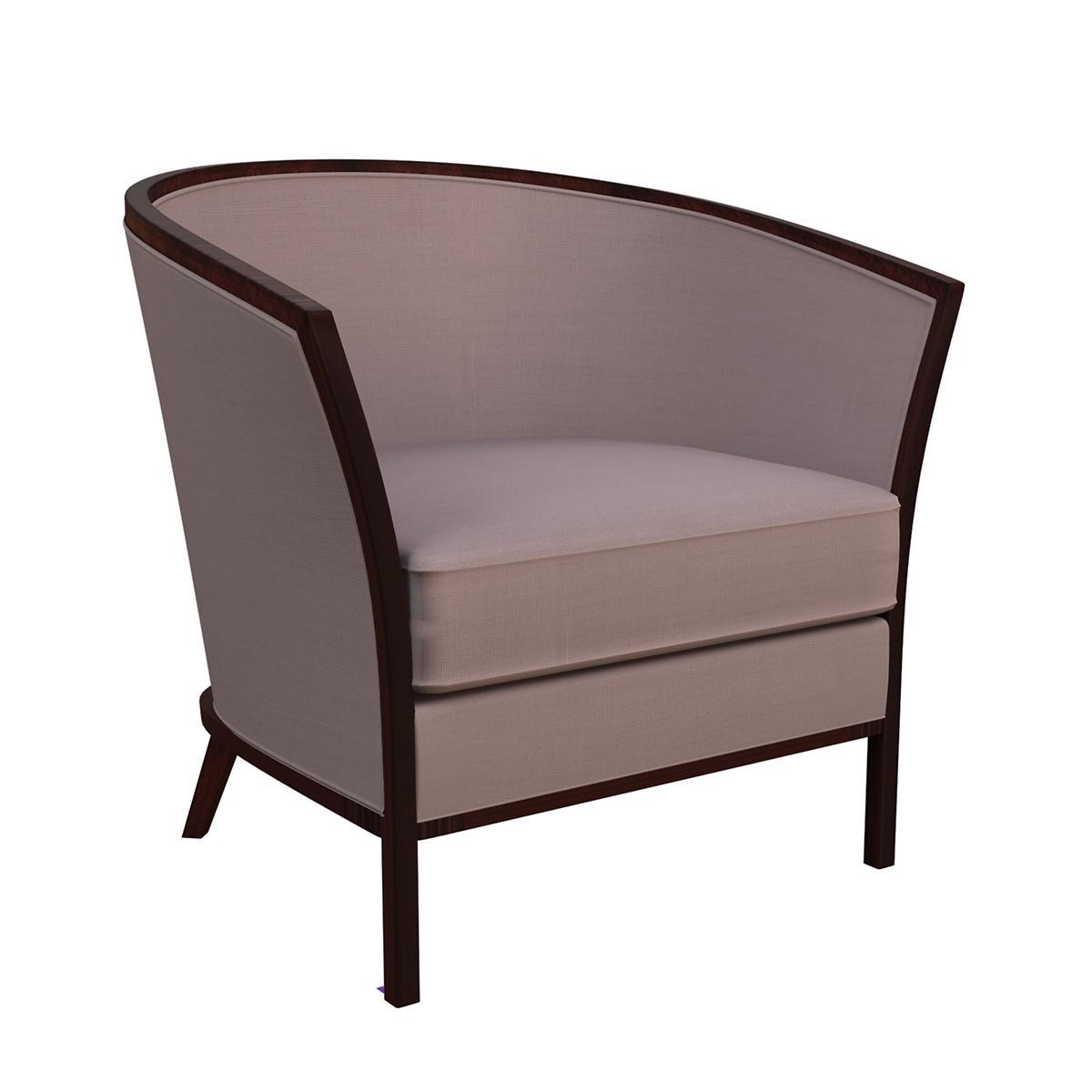 Weathered Linen Heather Bijou Chair