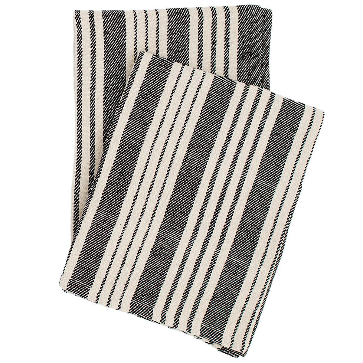 Birmingham black woven cotton throw dash albert for Dash and albert blankets