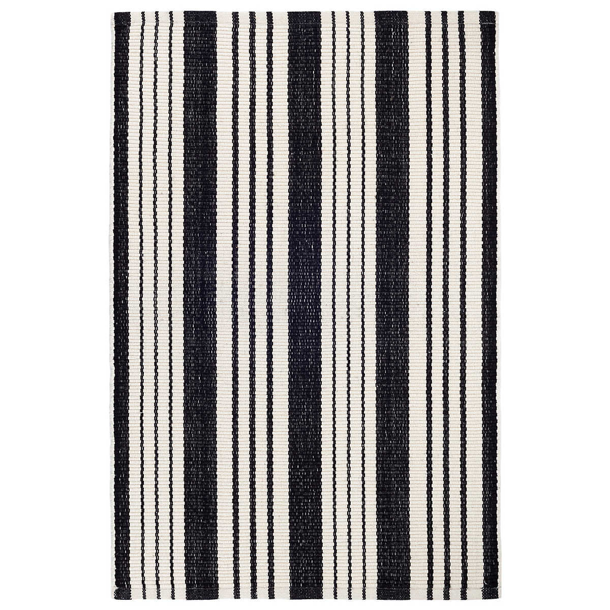 black hand cotton striped area white stripe nz rug woven and