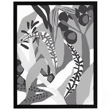 Black & White Jungle Art