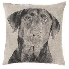 Black Lab Natural Decorative Pillow