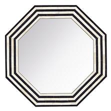 Black Stripe Bone Inlay Mirror