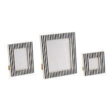 Black Stripe Bone Inlay Picture Frame