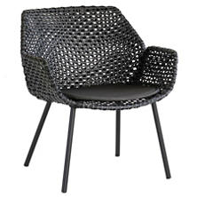 Black Vibe Lounge Chair