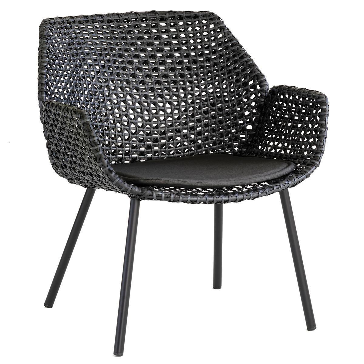 Black Vibe Lounge Chair