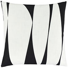 Blades Black Indoor/Outdoor Decorative Pillow