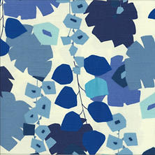 Block Floral Blue Swatch