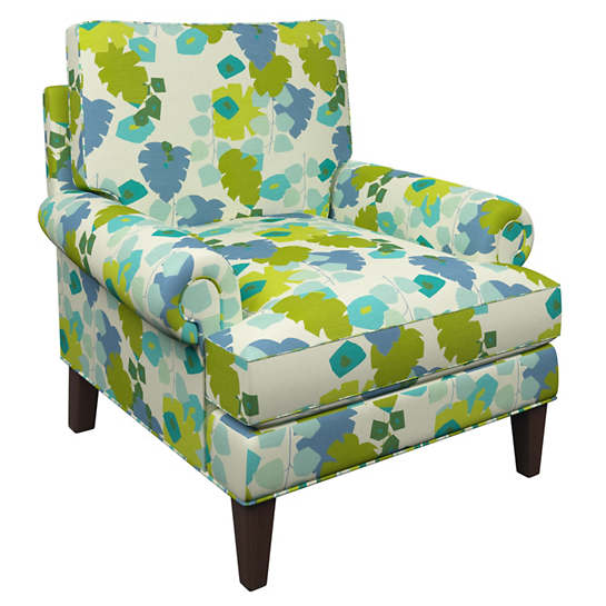 Block Floral Green Easton Chair