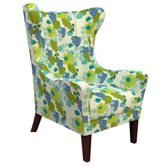 Block Floral Green Mirage Tobacco Chair