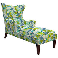 Block Floral Green Mirage Tobacco Chaise