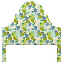 Block Floral Green Montaigne Headboard