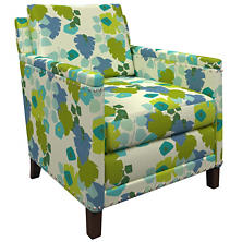 Block Floral Green Ridgefield Chair