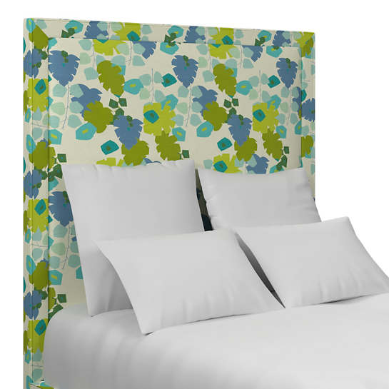 Block Floral Green Stonington Headboard