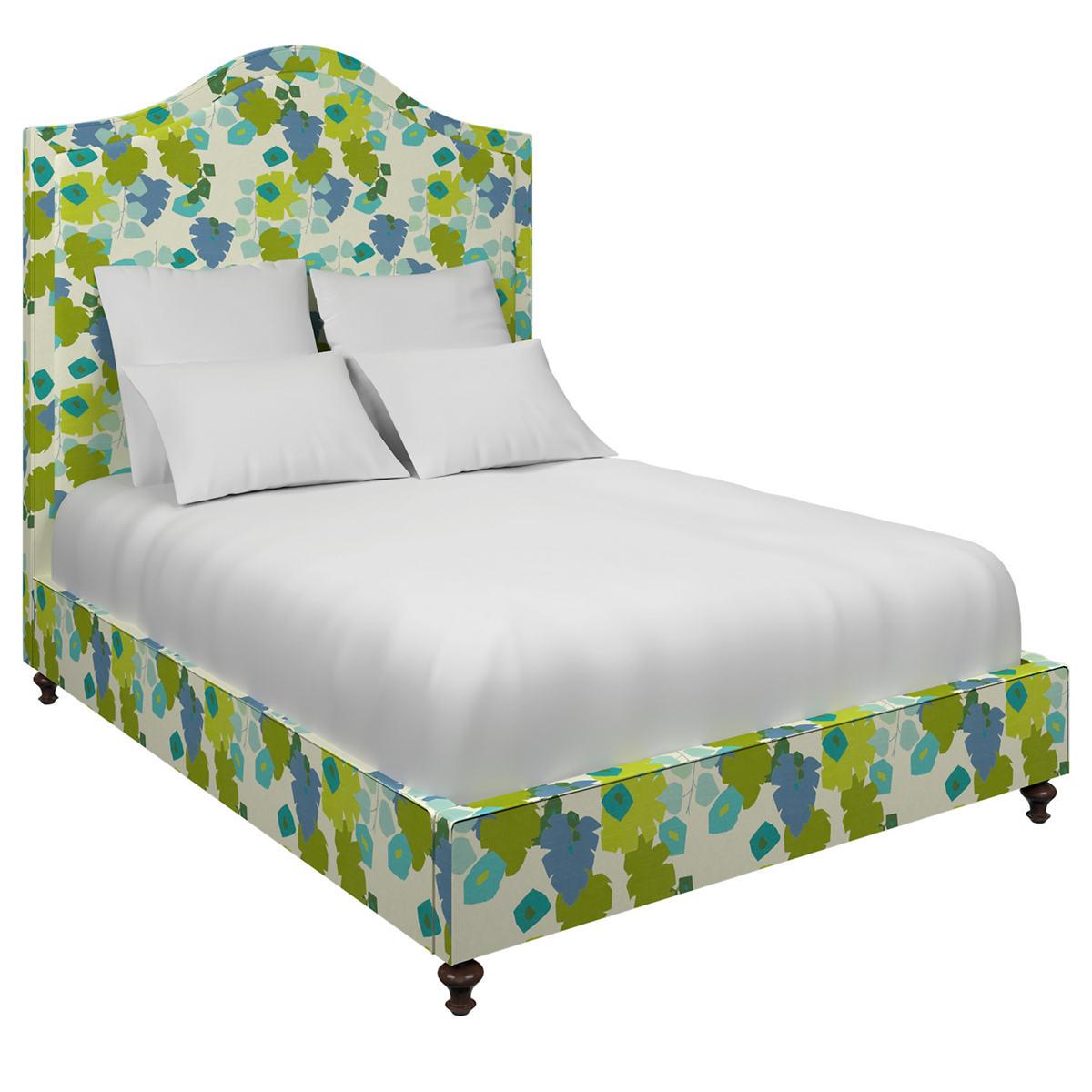Block Floral Green Westport Bed