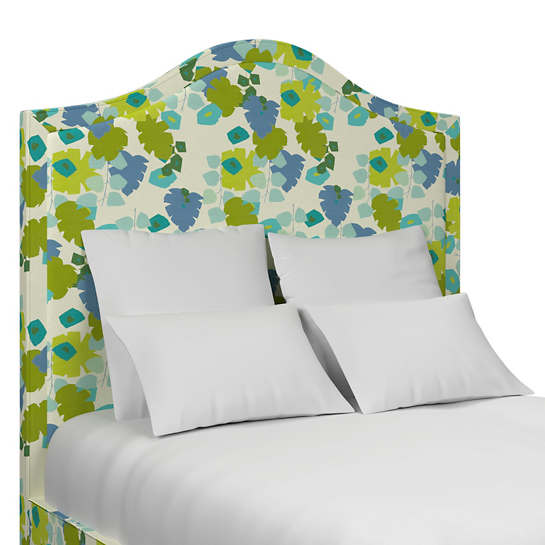 Block Floral Green Westport Headboard