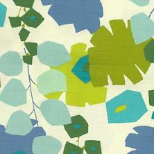 Block Floral Green Fabric