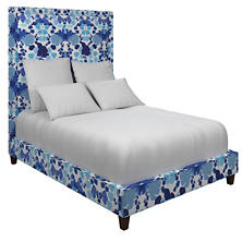 Block Floral Blue Stonington Bed
