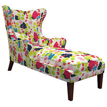 Block Floral Bright Mirage Tobacco Chaise