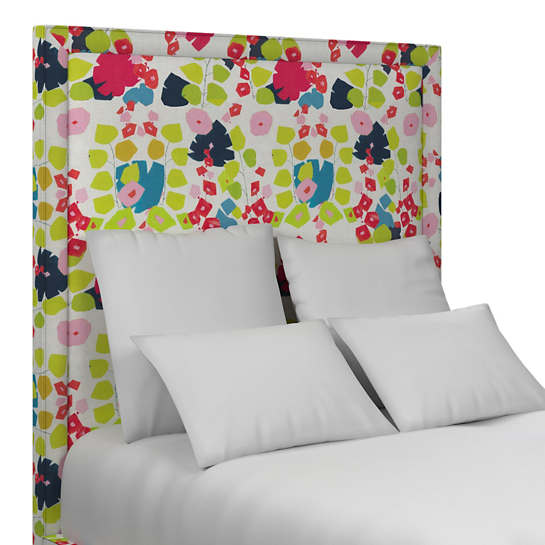Block Floral Bright Stonington Headboard