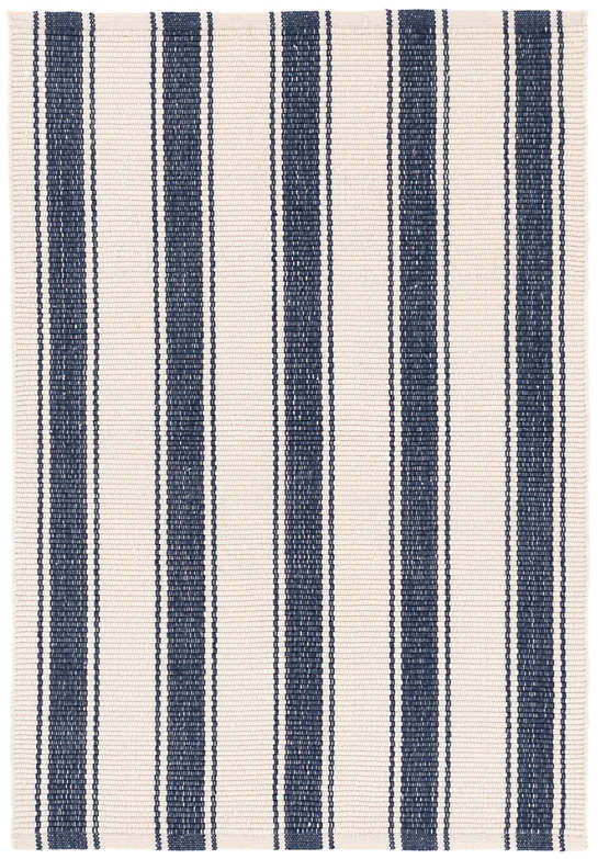 Blue Awning Stripe Indoor/Outdoor Rug