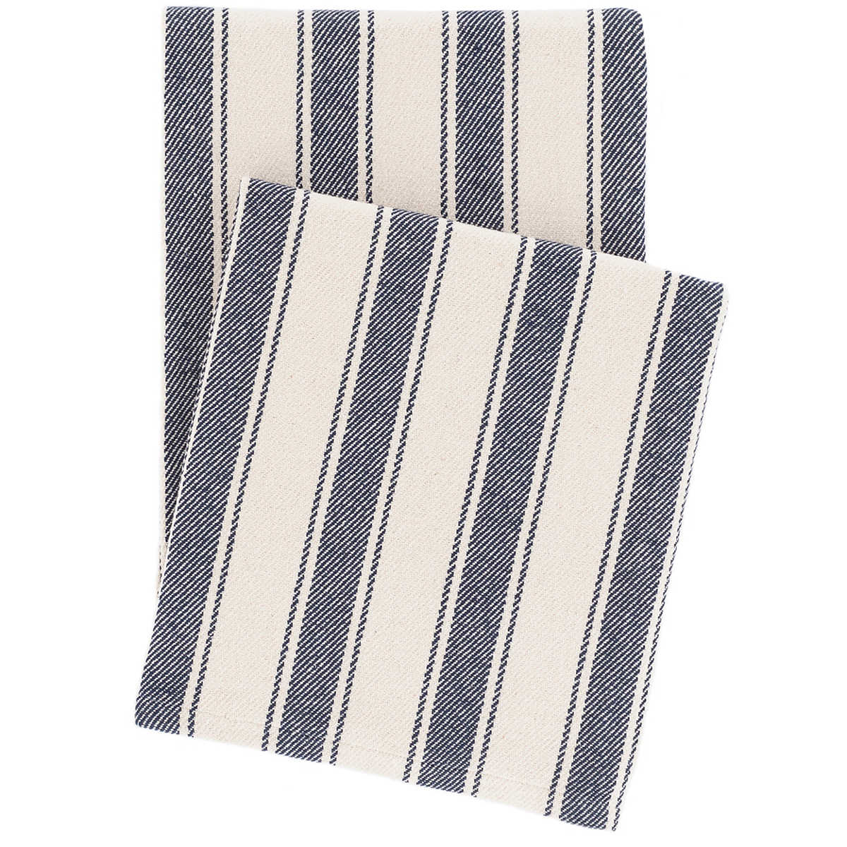 Blue Awning Stripe Woven Cotton Throw Dash Amp Albert