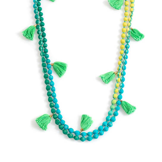 Blue Beachy Beads Necklace
