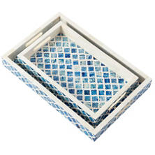 Blue Bone Inlay Tray