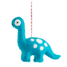 Blue Brachiosaurus Ornament