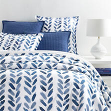 Blue Brush Duvet Cover