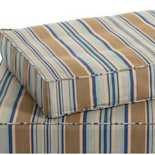 Blue Heron Stripe Dog Bed Cover