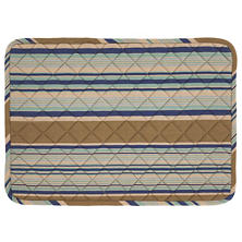 Blue Heron Stripe Quilted Placemat