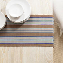 Blue Heron Stripe Table Runner
