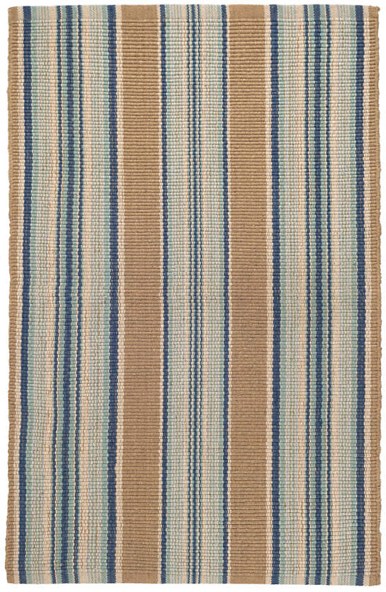 Blue Heron Stripe Woven Cotton Rug Dash Amp Albert