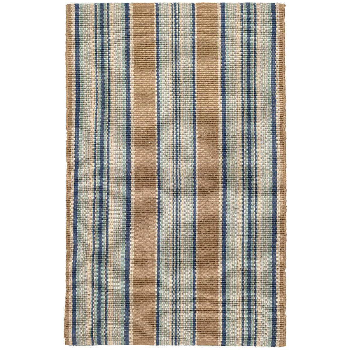 Blue Heron Stripe Woven Cotton Rug Dash Amp Albert