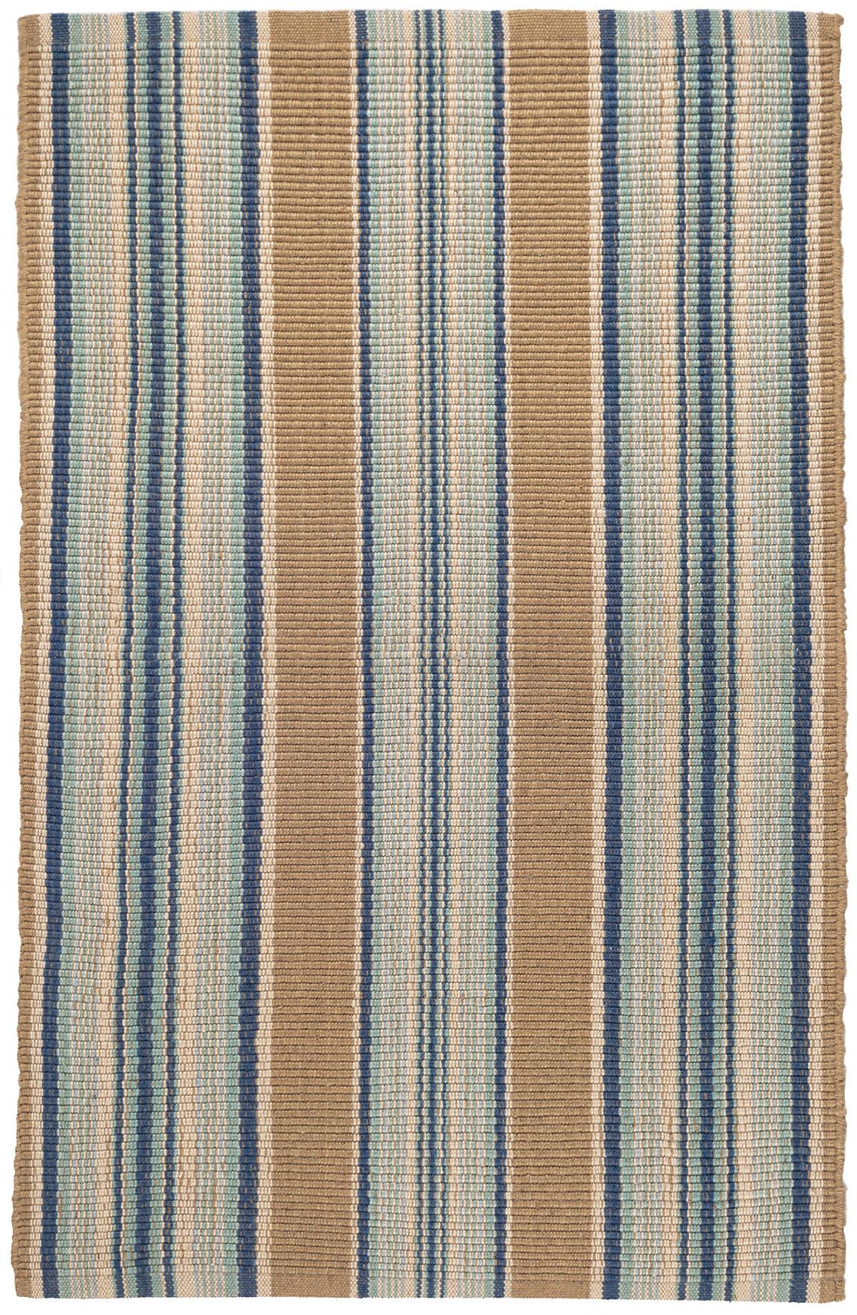 Blue Heron Stripe Indoor/Outdoor Rug