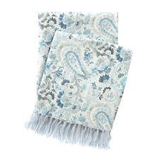 Ines Linen Blue Throw