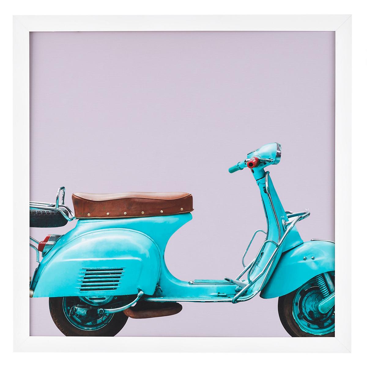 Blue Scooter Art