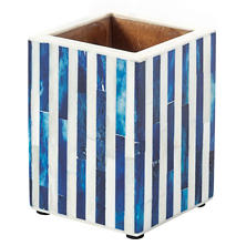 Blue Stripe Bone Inlay Tumbler