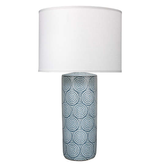 Blue Swirl Ceramic  Table Lamp