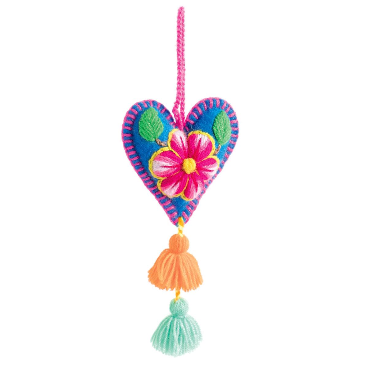 Blue Woven Hearth Ornament