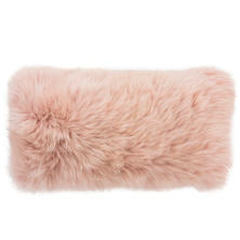 Blush Longwool Combed Sheepskin Decorative Pillow