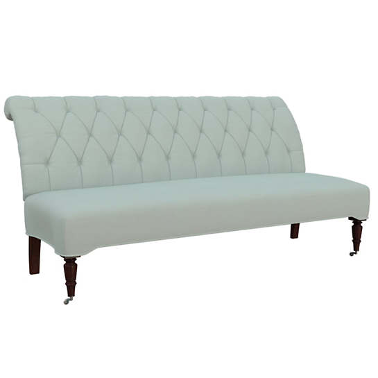Estate Linen Powder Blue Bordeaux Settee